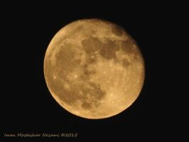 The Moon 25 sep 2015 Yellow Mon by thesonofsalvation