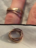 Forged Tri Colored Rolling Ring by Meagloth