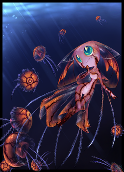 below light- jellyfish girl by WalkingMelonsAAA