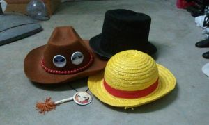 Ace, Sabo and Luffy's Hat by riezforester
