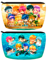 Free! - zipper pouch by Evil-usagi