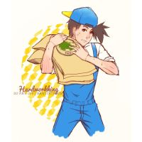 Jack hardworking | harvest moon by magicallydropz
