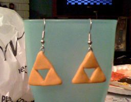 Triforce Earrings by Red-Flare