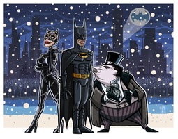 Batman Returns Cartooney by ElOctopodo