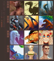 Summary of art 2014 by SHADE-ShyPervert