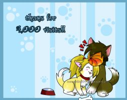 puppies deitobi: 4000 visit by nennisita1234