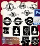 Christmas stamps by roula33