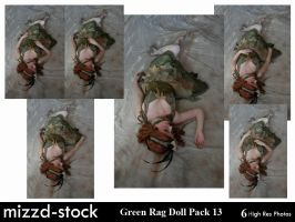 Green Rag Doll Pack 13 by mizzd-stock