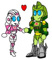 Chibi Springer and Arcee by AleximusPrime