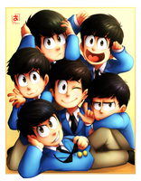 Sextuplets by Pozapple