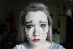 Ghast Makeup!! (first attempt ahhaha) by ScytheSkull