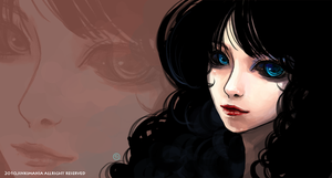 Black Hair Girl by JinkiMania
