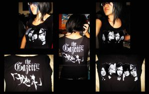 The GazettE Stencil Shirt by Sammo6661Deth