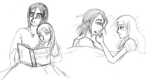 Bedtime with Elle and Mias by SuirenShinju