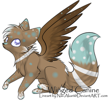 Snowy Winged Canine Adopt - CLOSED! by FrostDragon-Adopts
