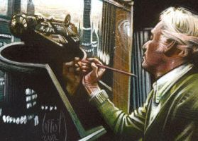 Ralph McQuarrie Sketch Card by JeffLafferty
