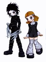 Edward Scissorhands and Lenor by Stargeiser