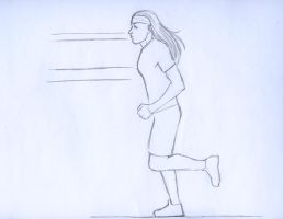 Christine Jogging Animation by EclecticNinja