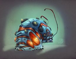 Klem Klem the mutated caterpillar by Brett2DBean
