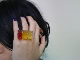 gummy bear ring by strictlyhandmade
