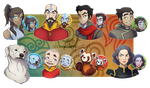 LEGEND OF KORRA BUTTON-BADGES! -for sale- by shazy