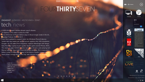 Rainmeter on windows 8.1 by LuminaryDragon