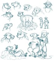 Sheep Character Sketchdump by Temiree