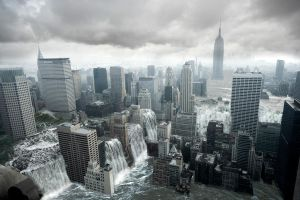 NY-Manhattan under water by fatraxx