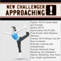 Smash Bros 4 Newcomer #3 Wii Fit Trainers by FireFeyRose412