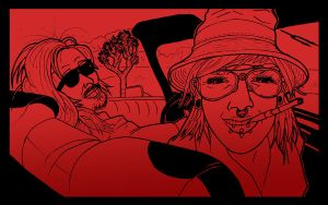 Fear and Loathing in Joshua Tree (monotone) by Spelonker