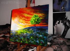 Vivid nature painting by Cleicha