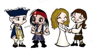 Chibi Pirates - PotC by Jackie-the-druid