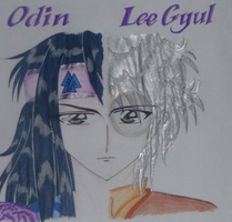 Odin and LeeGyul in dioses by ehatsumi