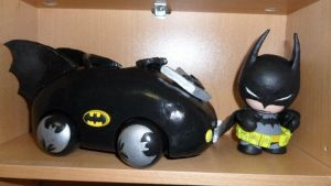 Batman with Batmobile Munny by GeekyPanda515