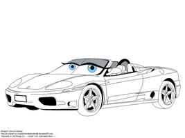 Disney Cars Female Template by CookieCannibleSofiel