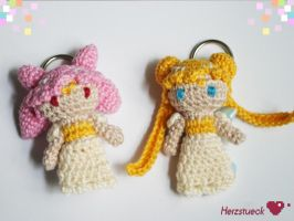 Moon Princesses Amigurumi Charms by Herzstueck-Handmade