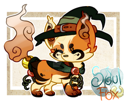 (Closed) Pumpkin Witch SoulFox Adoptable Auction! by SetSaiI