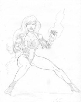 black widow canary by cattle6
