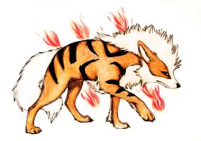 Arcanine by Imaginary-wolf