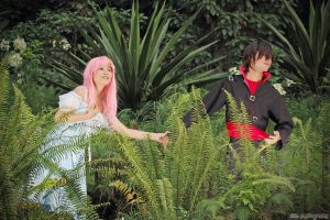 Lacus Clyne and Kira Yamato by z3LLLL