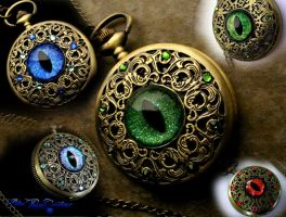 Custom Order a Slit Pupil Regal Pocket Watch - S by LadyPirotessa