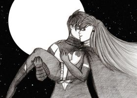 A Kiss in the Night by orenjiink