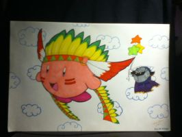 Wing kirby and MK (12 inch x 18 inch) by DarkGraySkies045