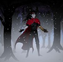 Vincent Valentine - First Snow by glitchgirl