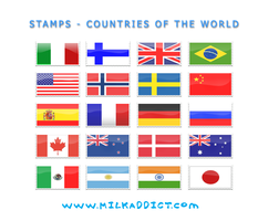 Stamps-Countries of the world by sneakymonkey04