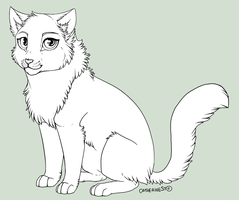 Free lineart - cat by CatherineSt