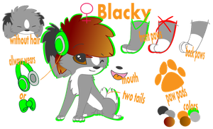 official blacky ref sheet by uosu