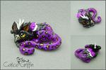 Shilei the Leopard Griffin - polymer clay by CalicoGriffin