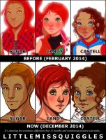LittleMissSquiggles' Mascot Babies Before and Now by LittleMissSquiggles