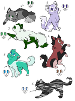 25 Watchers ~ Free Adopt sheet! by vega37